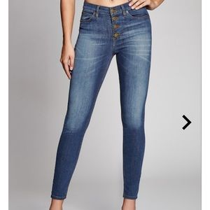 Guess Button-fly Highrise Skinny Denim Jeans